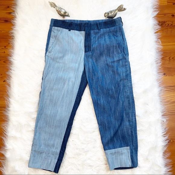 Zara Denim - Zara Women Multi Wash Cropped Trouser Jeans Sz M